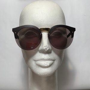 Illesteva Leonard 2 Round Gold Bridge Sunglasses